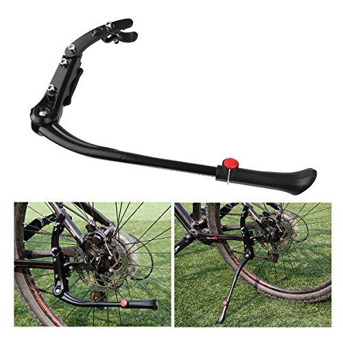 Foxnovo Seitenständer Fahrrad Ständer Hinterbauständer Universal Fahrradständer Aluminiun Gummi für MTB Mountainbike Fahrrad Cycling Aktualisierte Version