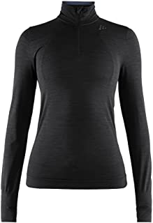 Craft Women's Fuseknit Comfort Zip Long Sleeve Base Layer Wicking Top