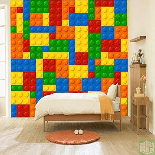 Papel tapiz de ladrillos Lego 3D, murales de pared de patio de juegos para niños, papel tapiz fotográfico, decoración de habitación de guardería, Hotel, TV, pared de fondo, 250cm×175cm