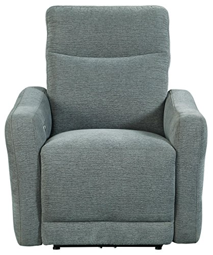 """Homelegance Edition 34"""" Fabric Power Lay-Flat Power Recliner, Dove"""