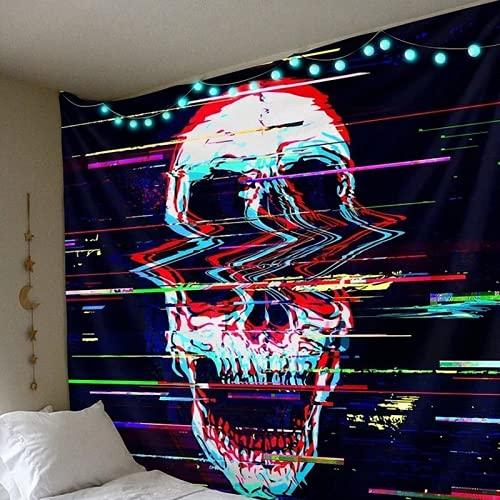 JDHANNE Tapiz estampado de calavera para colgar en la pared, manta de yoga para mujer, toalla de playa, dormitorio, decoración de arte