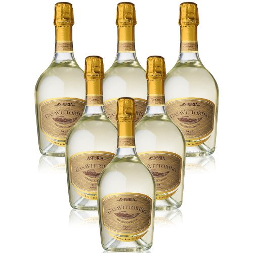 Prosecco Valdobbiaedene Superiore Millesimatoto Docg Casa Vittorino Astoria Italienischer Sekt (6 flaschen 75 cl.)