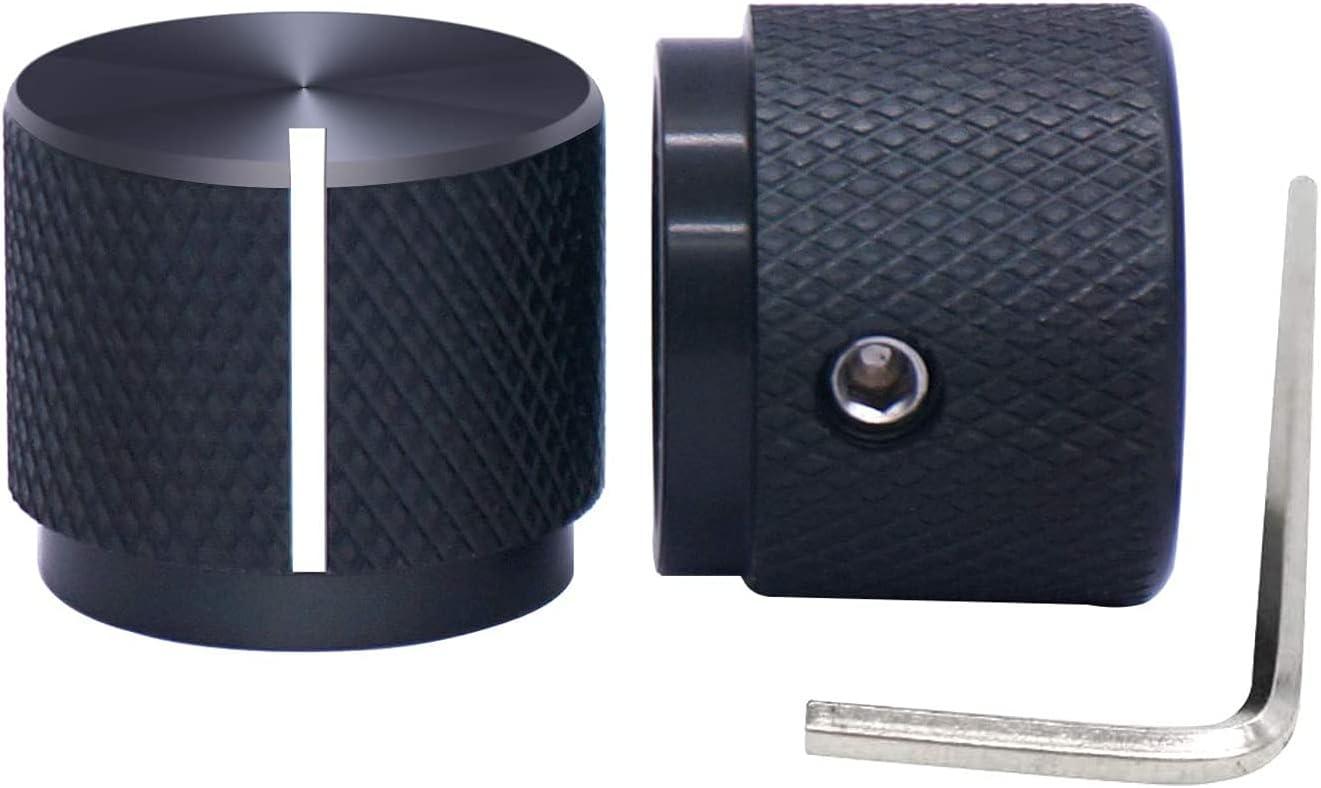 FGZFA New Shipping Free 2pcs Mail order Black Aluminum Electronic Rotary Potentiomete Control