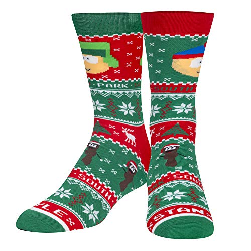 Calcetines frescos, hombres, suéter feo, dibujos animados, calcetines tripulados, vacaciones novedad lindo - -