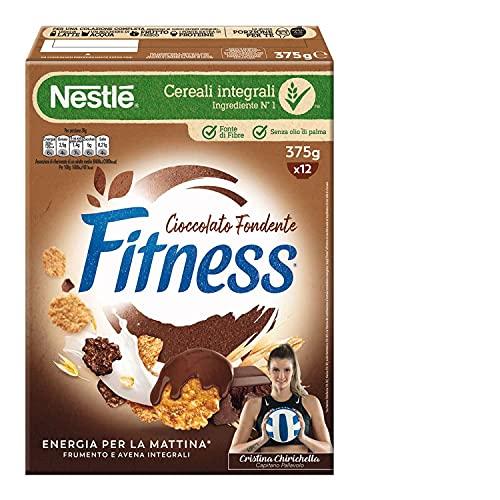 FITNESS CIOCCOLATO FONDENTE Cereali con Frumento e Avena Integrali e Fiocchi Ricoperti al Cioccolato fondente 4 X 375 g