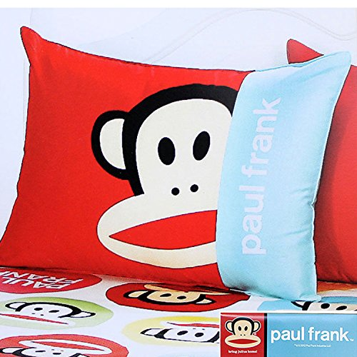 Paul Frank 100% Cotton Bedding Zippered Pillow Cover Case 24' - 1pc