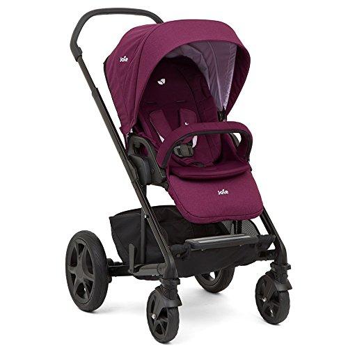 Joie Chrome DLX Kinderwagen inkl. Fußsack & Regenverdeck 2018, Farbe:Dahlia