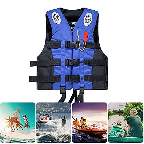 JOJOJOY Chaleco salvavidas, chaleco salvavidas flotante de supervivencia para adultos niños, chaleco salvavidas flotador, chaleco salvavidas flotador para pesca, surf, buceo, rafting, kayak, S-XXXL