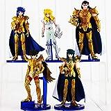 5pcs/lot Seiya Knights of The Zodiac Shiryu Shun Hyoga Jabu Seiya PVC Action Figure Dolls Collection Model Toys