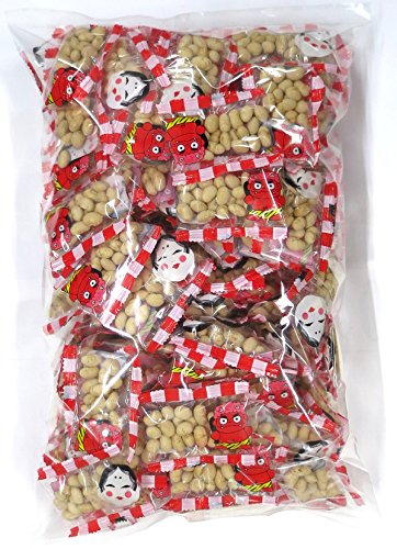 小袋入り 福豆 1000g(個包装フィルム込)約128個入 1kg 節分 便利な小分け おまめやさんの節分豆 業務用