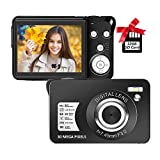 Digital Camera 2.7 Inch LCD Rechargeable HD Digital Camera Compact Camera Pocket Digital Cameras 30 Mega Pixels with 8X Zoom for Adult Seniors Students Kids with 32GB SD Card(1 Battery Included)