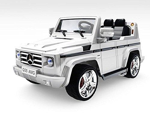 RC Auto kaufen Kinderauto Bild 2: Lizenz Kinderauto Mercedes - Benz G55 AMG 2x 35W Motor MP3 RC SUV Jeep Elektroauto Kinderfahrzeug Ferngesteuert Elektro Auto (Schwarz)*