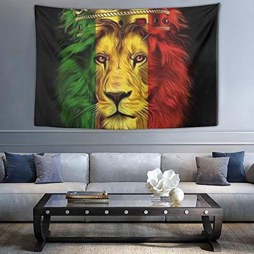 NiYoung Hippie Hippie Wandteppich Reggae Rasta Löwe Flagge König mit Krone abstrakte Wandteppiche Wandbehang Tapisserie für Home Art Dorm Zubehör Mandala Picknick Decke Home Tapestry