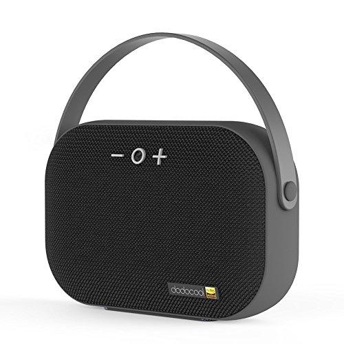 dodocool Speaker Portatile Bluetooth, Hi-RES Stereo Speaker con Microfono Incorporato e Slot, 6 Ore di Riproduzione, Raggio Bluetooth 20m per iPhone, Samsung e Altri, Nero