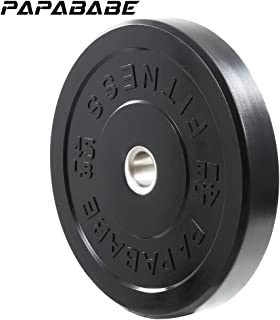 PAPABABE Bumper Plates 2 inch Bumpers Pair Olympic Weight Plate with Steel Insert Bumper Weights Set Free Weight Plates