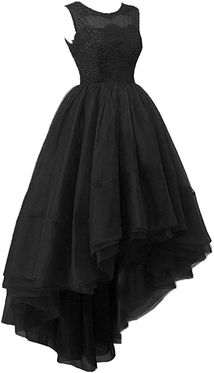JAEDEN Prom Dress High Low Evening Party Dress Prom Dresses Formal Evening Gowns Beading