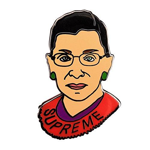 GuDeKe The Ruth Bader Ginsburg (Englisch) Brosche, Gravur Supreme RBG Abzeichen für Damen Rückseite Gummi Kautschuk Pins Berühmte Figur Feministischer Schmuck
