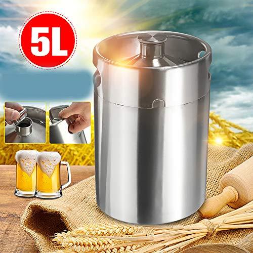 LWQ 5L Edelstahl Bier-Fass, für Craft Beer Dispenser System ZuhauseBrew Bierbrauen