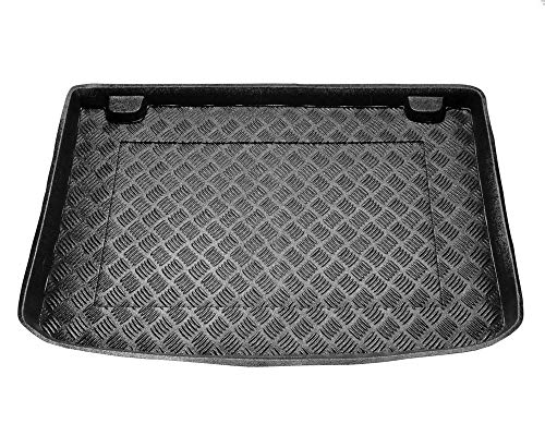 Protector Maletero PVC Compatible con Renault Clio IV (Desde 2012) + Regalo | Alfombrilla Maletero Coche Accesorios | Ideal para Perro Mascotas