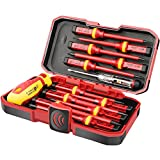 1000V Insulated Electrician Screwdriver Set, All-in-One Premium Professional 13-Pieces CR-V Magnetic Phillips Slotted Pozidriv Torx Screwdriver