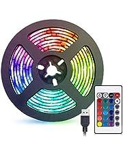 شريط إضاءة ليد من جلوكلوز 2 متر يو اس بي ار جي بي إضاءة ديكور مقاومة للماء مع جهاز تحكم عن بُعد لغرفة النوم والمطبخ والفندق والتلفزيون (تغيير اللون)