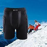 <span class='highlight'><span class='highlight'>yorten</span></span> Protective Hip Pad Padded Shorts Skiing Skating Snowboarding Impact Protection Black M