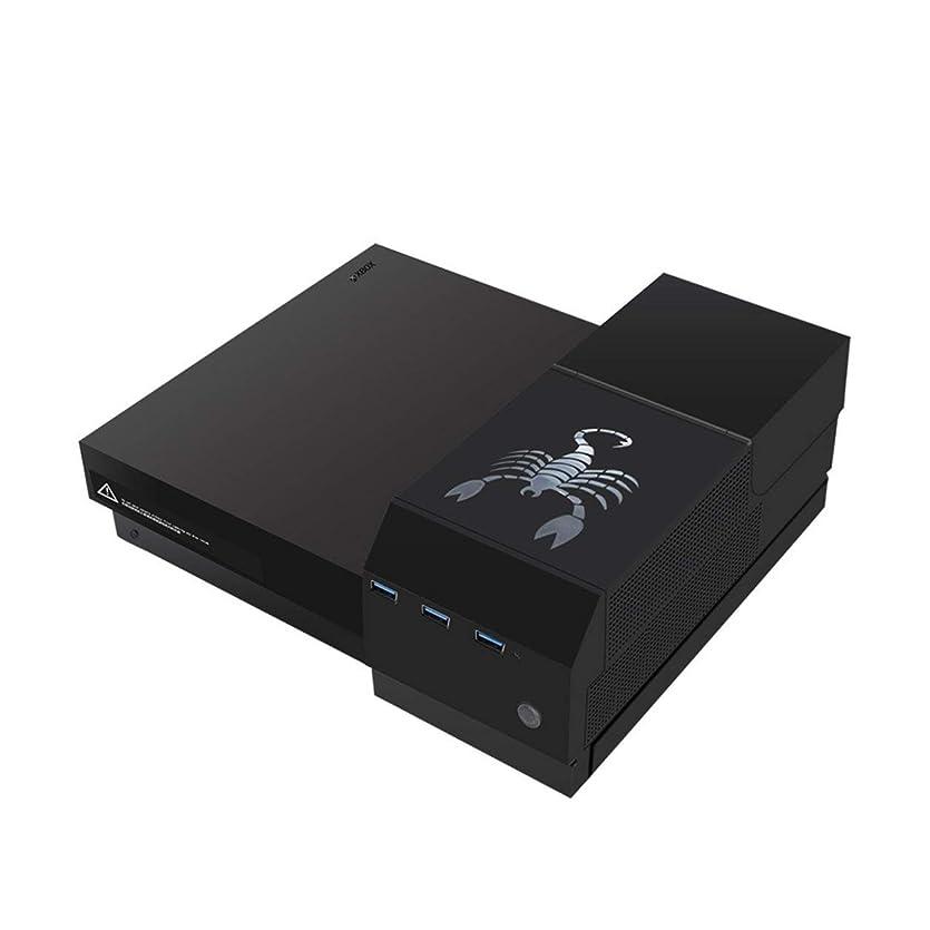 最終的に望む飼いならすSaikogoods ポータブル ハードディスク XBOX ONE Xアクセサリーパーツ耐久性に優れた変換コンバータ用のUSB 3.0ハブとハードディスクドライブのエンクロージャ 黒
