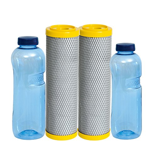 sanquell ABF Primus EM Vorteilspaket, 2 Wasserfilter mit effektiven Mikroorganismen, inklusive 2 TRITAN-Flaschen