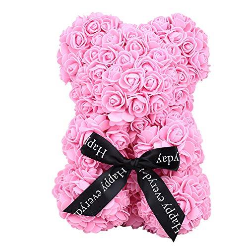 Leaftree Valentines Geschenk 1Pcs Rose Bär Kleiner Teddybär für Immer romantische Geschenke für Freundin sie, Rosa