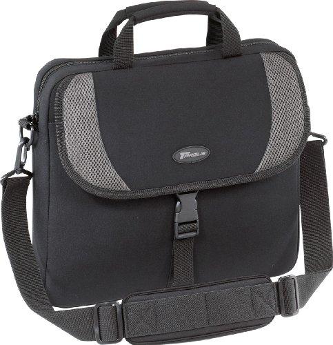 Targus Neoprene Sleeve Slipcase with Shoulder Strap for 16-Inch Laptops, Black with Gray Accents (CVR200)
