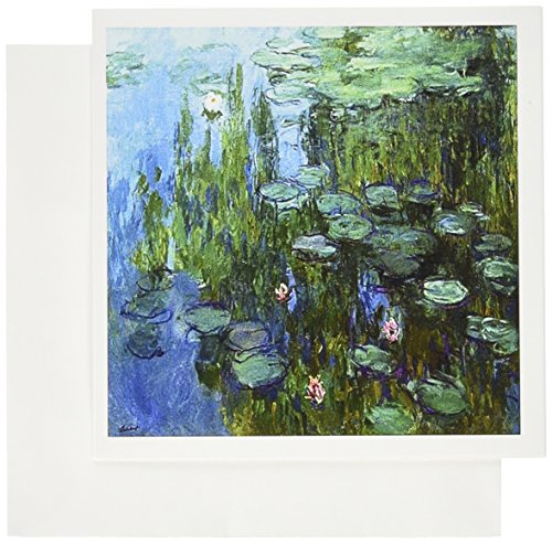 3dRose Monets Water Lillies Painting - Greeting Cards, 6 x 6 inches, set of 6 (gc_49340_1)