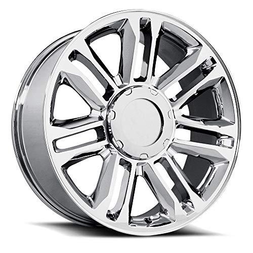Topline Replicas V1165 Esc. Platinum Chrome Wheel (22 x 9. inches /6 x 5 inches, 31 mm Offset)