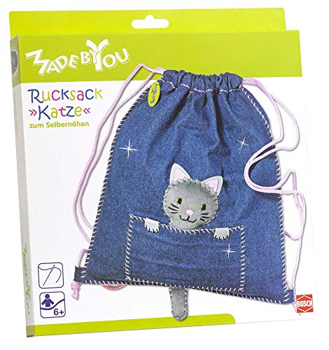 Made by You 13016 Rucksack »Katze«, Blau