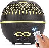 Timpou Mini Umidificatore, Umidificatore ad Ultrasuoni da 400 ml, Diffusore di Aromaterapia con Telecomando con 14 Colori e Spegnimento Automatico Senza Acqua