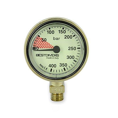 Best divers ab0775 Manómetro Sub, Plata, 4.5 x 2 cm