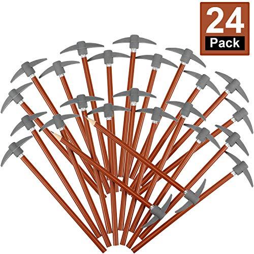 Pencil Eraser Set Topper Pencils Funny Eraser Topper Pencils Kids Fun Pencils with Axe Shape Eraser (24 Pieces)