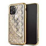 CG MOBILE Coque pour Iphone 11 Pro Guess Glitter Peony 4G Or