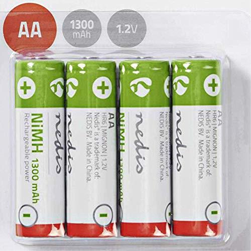 TronicXL 4 Stück Akku AA 1.2V 1300mAh Akkus Batterie wiederaufladbar für kompatibel mit Telefon Telekom T-Sinus Mobilteil 62K Komfort 61K S117 Classic S314 Comfort 700K 45K 45S 700S 62S 61S T-Com