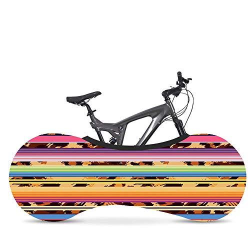 HaiYang Copertura da Interni per Biciclette– La miglior Soluzione per Mantenere Pavimenti e pareti PRIVI di SPORCIZIA – Si Adatta al 99% di Tutte Le Biciclette per Adulti Stripe 04