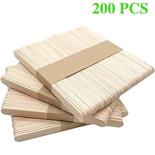LIULIUKEJI 200 stuks ijsstelen, houten stokjes voor ijs en knutselen