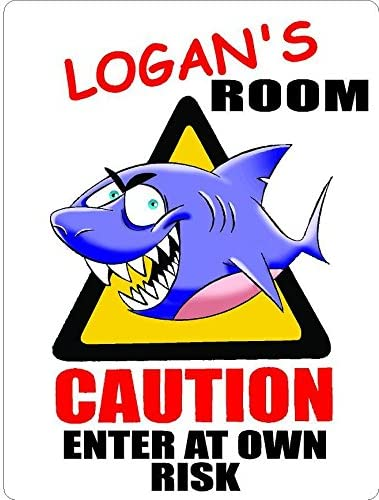 ANY AND ALL GRAPHICS Logan Large discharge sale Challenge the lowest price of Japan ☆ Caution Enter Kids Door Room dé Shark
