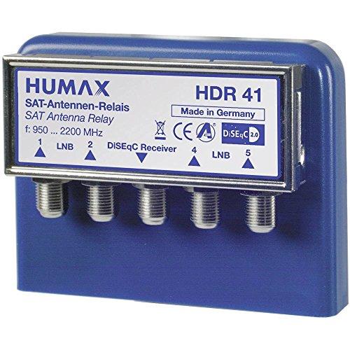 Humax Digital 4x1 weerbestendige behuizing DiSEqC schakelaar voor 4 satellieten op ontvanger