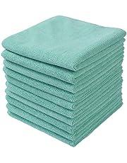 Winthomeマイクロファイバークロス ふきん 厚手 お掃除タオル 台拭き 吸水 速乾 10枚セット