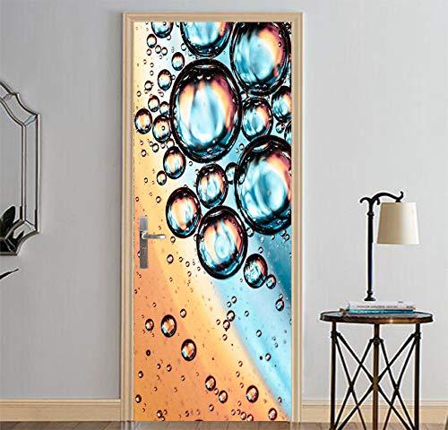 Preisvergleich Produktbild YMYGO 3D Türtapete Bubble-Idee Türtapete Selbstklebend Türposter Fototapete Poster Tapete PVC 3D Türaufkleber Selbstklebend DIY Türbild Moderne 3D Tür Aufkleber Hause Erneuern Decor Tapete Se 77x200cm