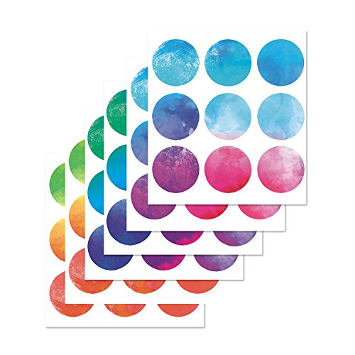 PARLAIM Rainbow Multi Size Polka Dot Wall Decals, Peel and Stick Wall Stickers Perfect for Kids Room,Living Room,Bedroom Multicolor (3 Inch X 54Circles)