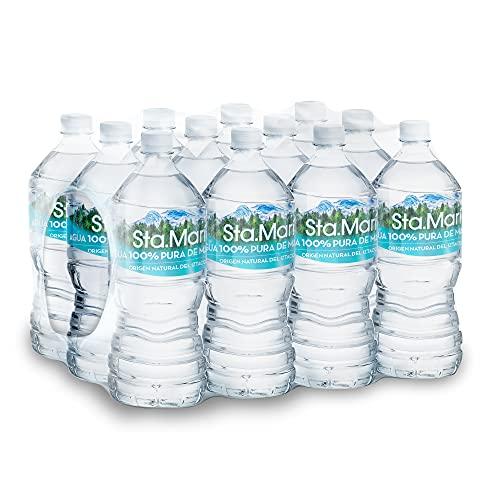 Santa Maria, Sta.María, agua 100% pura de manantial paquete 12 piezas 1 litro,...