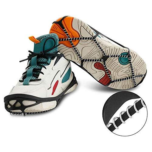 Eisklampen, Gehen auf EIS Schneeschuhe Schuhe Steigeisen Traktionsklampen Greifer Spikes Wandern, Winter Walker Traktionsgerät zum Wandern, Gehen, Joggen (1pair)