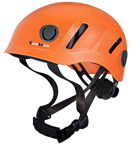 Tontron Comfy Climbing Caving Helmet (Orange, Large)