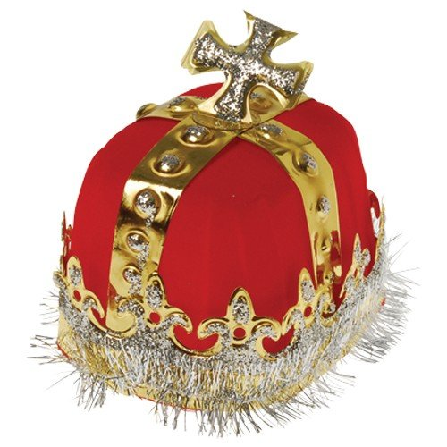 Best Price DollarItemDirect Royal Red King's Crown, Sold by 11 Pieces