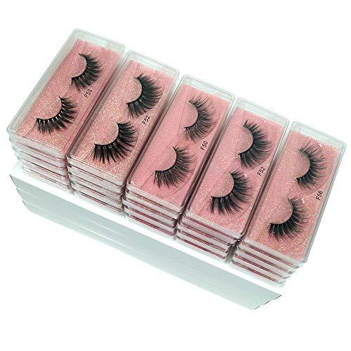3D Mink Lashes Wholesale 10/20/30/50/100 Pairs Faux Mink Eyelashes Natural False Eyelashes Pack Makeup False Lashes In Bulk (Mix 30 pairs)